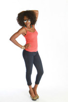 tank top top - jeggings jeans - pumps