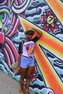 Straw-hat-hat-diy-cutoffs-shorts-thrifted-belt-baseball-tee-hot-topic-t-sh