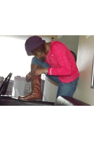 Forever 21 bracelet - Charlotte Russe shoes - Forever 21 jeans - Forever 21 hat