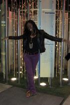 black Charlotte Russe jacket - purple Forever 21 jeans