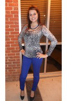 Express top - Stella & Dot necklace - Belk pants - Steve Madden heels