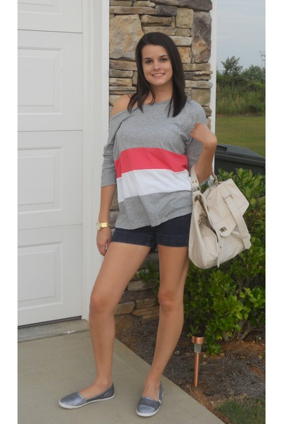 Forever 21 top - Rock and Candy shoes - Target bag - Express shorts