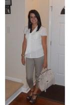 Express shirt - Target bag - new york & co pants - kensie girl wedges
