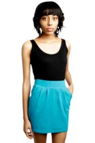 turquoise blue Many Belles Down skirt