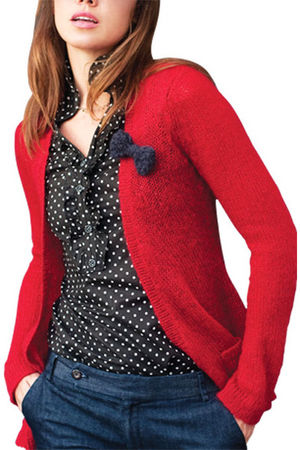 red Wooden Ships cardigan