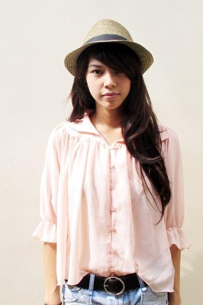 peach Mink Pink blouse