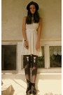 Black-denis-boots-white-mystic-dress