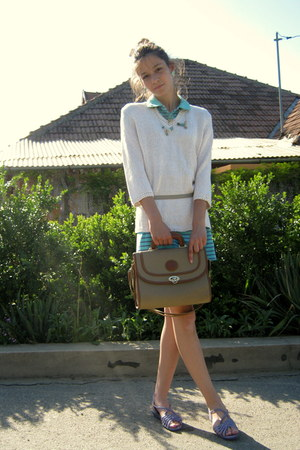 cream Bluhmod blouse - aquamarine Nuova moda skirt