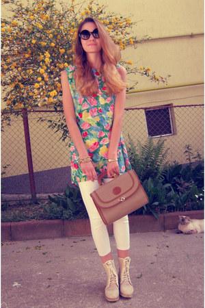 white H&M leggings - black Chicwish sunglasses