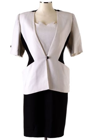 white Nina Ricci jacket - black Nina Ricci dress
