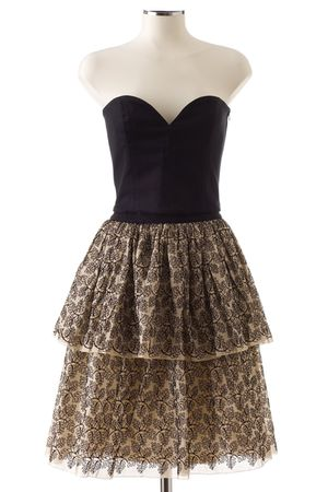 black lanvin top - brown lanvin skirt