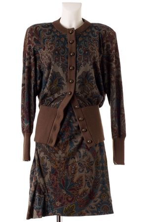 brown lanvin cardigan - brown lanvin skirt