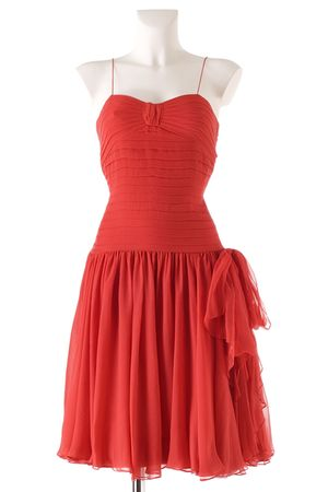 red Nina Ricci dress
