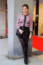 H&M blazer - black H&M dress - black H&M bag - black YSL heels