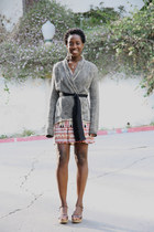 Betsey Johnson dress - Anthropologie sweater - JCrew wedges