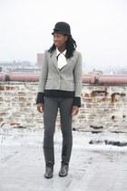 etienne aigner boots - H&M hat - ann taylor sweater - Etsy blouse