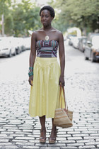 Urban Outfitters top - vintage bag - JCrew skirt - vintage skirt