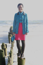 vintage skirt - Biviel shoes - free people coat - vintage blouse