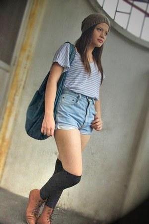 Pill The Ramp boots - Forever 21 hat - Terranova bag - DIY shorts shorts - Disne