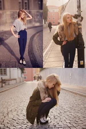 asos boots - H&M Trend jacket - American Apparel leggings