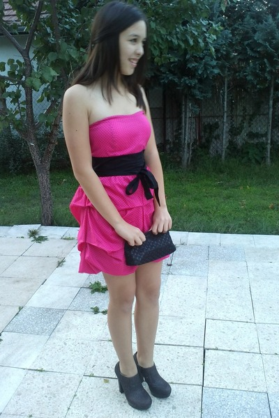 Black Heels Hot Pink Dresses Black Wallets   &quothot pink dress&quot by