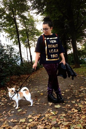 Zara sweatshirt - Monki leggings - longchamp bag - Monki wedges - H&M ring