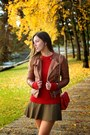Brown-motorcycle-forever21-jacket-red-knit-pollen-sweater-sweater