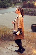 camel Club Monaco coat - black BCBG bag - black Belle by Sigerson Morrison flats