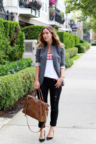 black skinny jeans James Jeans jeans - charcoal gray Jigsaw blazer