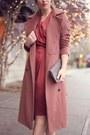 Maroon-silk-obakki-dress-pink-menswear-obakki-coat