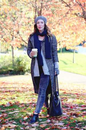 gray skinny jeans James Jeans jeans - black ankle boots Jonak boots