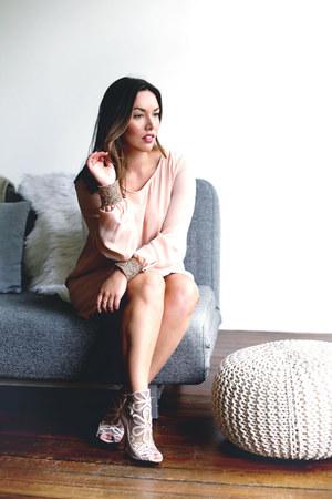 light pink sequin Barefoot Contessa dress