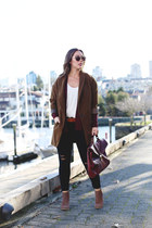 brown Forever 21 coat