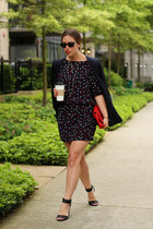 navy shirt dress Chip Chop dress - navy silk Club Monaco blazer