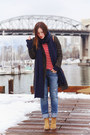 Gray-menswear-h-m-coat-sky-blue-ripped-abercrombie-and-fitch-jeans