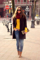 maroon infinity little burgundy scarf - crimson cashmere wilfred coat