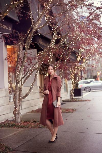 maroon silk Obakki dress - pink menswear Obakki coat