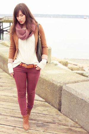 brown lost and found blazer - off white Club Monaco sweater