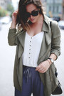 Olive-green-utility-gentle-fawn-jacket-heather-gray-silk-aritzia-pants