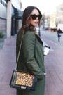 Dark-green-wool-simons-coat-tan-leopard-print-nine-west-bag