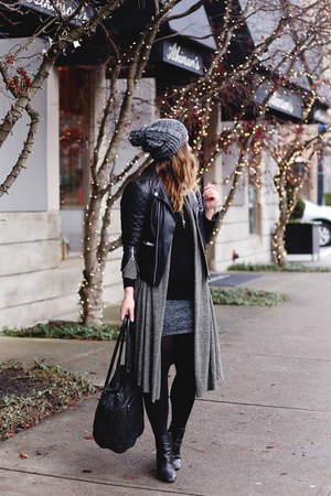 charcoal gray long cardigan free people sweater