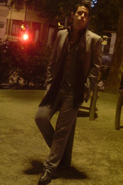 H&M blazer - H&M vest - H&M pants - Claiborne shirt - Zara scarf - Zara shoes