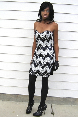 black Gunne Sax Jessica McClintock dress - black Victorias Secret shoes - Target