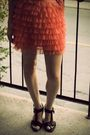 Orange-skirt-white-teenflo-blouse-black-essential-shoes-black-purse