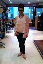 Topshop top - vintage jacket - Topshop jeans - Office shoes - vintage necklace -