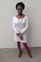 tawny Minnetonka boots - magenta Forever 21 leggings