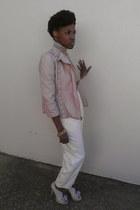 light pink Charlotte Russe jacket - light pink Vince Camuto shoes