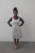 silver Anthropologie dress - navy Forever 21 shirt