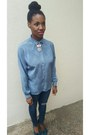 Navy-banana-republic-jeans-sky-blue-vintage-shirt-teal-steve-madden-pumps