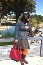 Navy-levis-blazer-burnt-orange-the-limited-tights